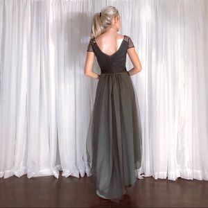 JJ's House Dresses - Silver Grey High Low Homecoming Prom Dress